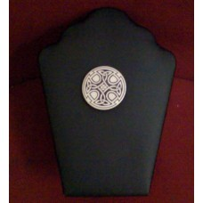 Celtic Triskele Cross Porcelain Brooch