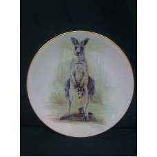 Grey Kangaroo Bone China Plate