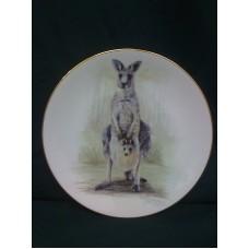 Grey Kangaroo Bone China Plate
