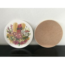 Ceramic Round Wildflower Bouquet Pot Stand / Trivet